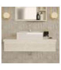 conjunto para banheiro bancada com cuba q39 quadrada city 800 snow