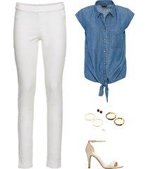 tencel blouse met knoopdetail