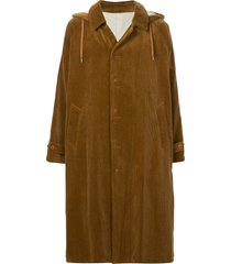 08sircus hooded corduroy coat - brown