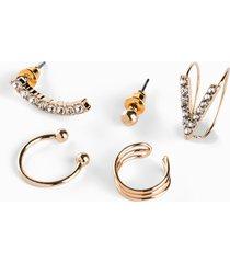 orecchini ear cuff (set 5 pezzi) (oro) - bpc bonprix collection