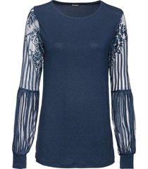 maglia con maniche lunghe in pizzo (blu) - bodyflirt