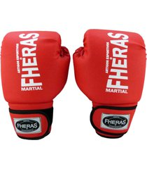 luva boxe muay thai fheras new trade vermelho 14 oz