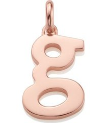 alphabet pendant g, rose gold vermeil on silver