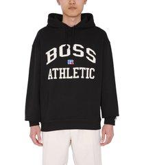 hugo boss boss x russell athletic logo sweatshirt