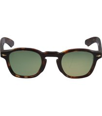 jacques marie mage logo detail curved square frame sunglasses