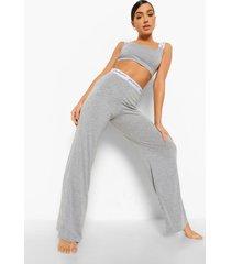 woman ingekorte pyjama set met streep, grey