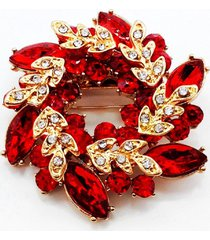 red flowers shape brooch pins chinese redbud scarf buckle garment brooches