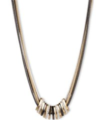 nine west multi strand necklace with slider