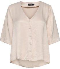 delia blouse blouses short-sleeved beige morris lady