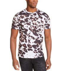 guess men's leopard print t-shirt