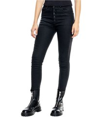 high waist skinny black jeans con botonadura delantera (se sugiere comprar 1 talla menos a la habitual) color blue