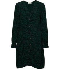 vivaldi print dress jurk knielengte groen modström