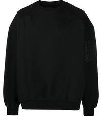 juun.j arm-pocket sweatshirt - black