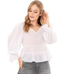 blusa ada blanco ragged pf11112206