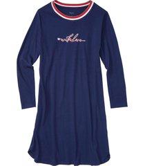 camicia da notte in cotone biologico (blu) - bpc bonprix collection