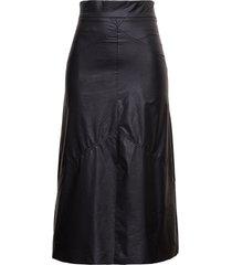isabel marant domi skirt in leatheret