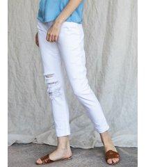 jeansy białe