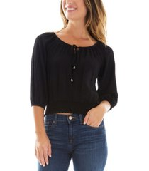 bcx juniors' 3/4-sleeve peasant top