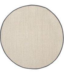 safavieh natural fiber marble and dark gray 6' x 6' sisal weave round area rug