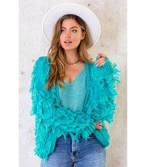 oversized knitted fringe vest oase