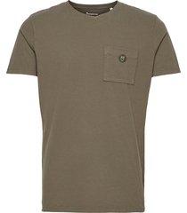 alder garment dyed pique tee w/pock polos short-sleeved grön knowledge cotton apparel