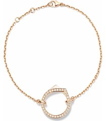 antifer pendant bracelet - rose gold