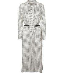 fabiana filippi belted waist polka dot dress