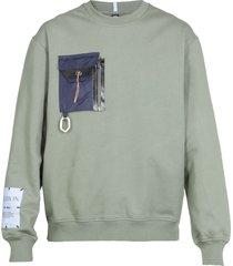 mcq alexander mcqueen albion: tent poncho sweatshirt