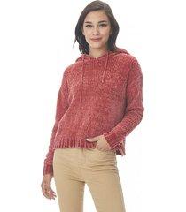 sweater hoodie chenille burdeo corona