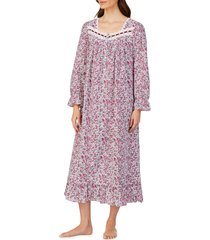 women's eileen west cotton lawn long sleeve ballet nightgown, size x-small - red