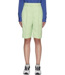 front pleat tailored shorts