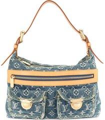 louis vuitton 2006 pre-owned baggy pm shoulder bag - blue