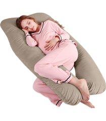 travesseiro de corpo gestante abraço gravida casa dona creme