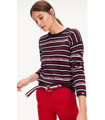 sweater manga larga velma reversible rojo tommy hilfiger