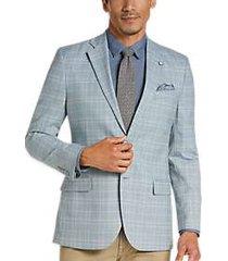 nautica light blue plaid modern fit sport coat