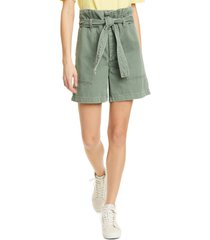 women's le superbe maliboo paperbag shorts, size 4 - green
