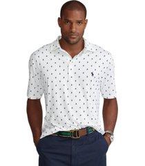 polo ralph lauren men's big & tall sailboat-print performance polo shirt