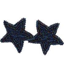 topo estrella azul metálico tejido a mano bijulovers