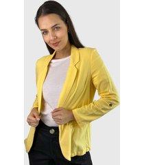 blazer vero moda amarillo - calce regular