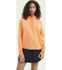scotch & soda graphic loose fit hoodie