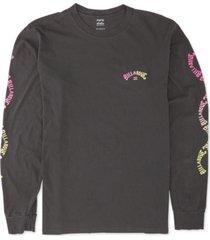 billabong men's arch logo long sleeve t-shirt