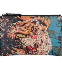 dsquared2 designer handbags, tiger print pouch