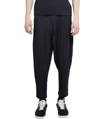 homme plisse navy trousers