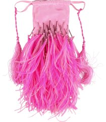 the attico greta feathers clutch bag