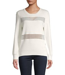 roundneck cotton-blend sweater