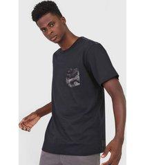 camiseta ...lost estampada preta/azul - preto - masculino - dafiti