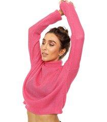 sweater fucsia exotica mónaco
