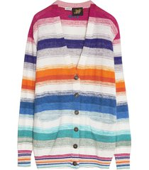 paulas ibiza multicolor striped cardigan