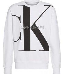 sweater monogram blanco calvin klein