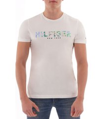 tommy hilfiger applique logo t-shirt - snow white mw0mw10811